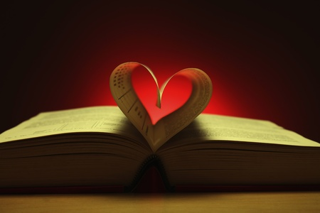 13147089 - heart shape formed from pages in book