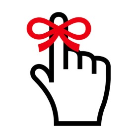 43837571 - reminder icon. hand with finger on which is tied ribbon bow