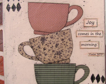 Joy in the Morning coffee cups