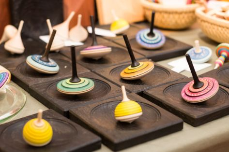 74036744 - colorful wooden spinning top