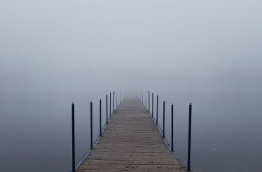 11157657 - endless jetty into a fog